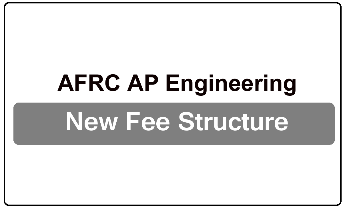 AFRC AP Engineering New Fee Structure for 2022