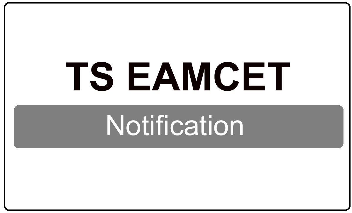 TS EAMCET Notification 2022